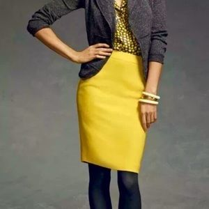 CAbi Curry | Mustard | Yellow Pencil Skirt